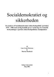 Socialdemokratiet og sikkerheden - Akademisk Opgavebank