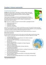 Årsplan 3. klasse matematik - Uhre Friskole