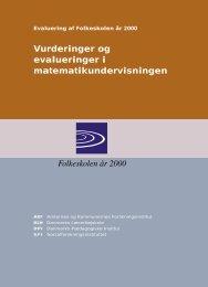 Vurderinger og evalueringer i matematikundervisningen