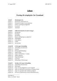 Forslag til retsplejelov for Grønland - Inatsisartut