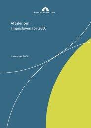Aftaler om Finansloven for 2007 - Finansministeriet