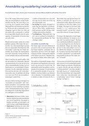 Anvendelse og modellering i matematik – et teoretisk blik - LMFK