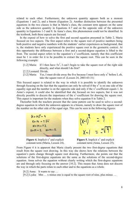 Second-Degree Equations as Object of Learning - Högskolan ...