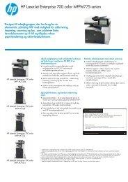 HP LaserJet Enterprise 700 color MFP M775 ... - MB Solutions A/S