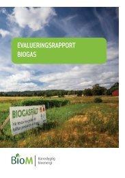 EVALUERINGSRAPPORT BIOGAS - AgroTech