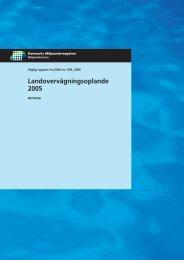 Landovervågningsoplande 2005
