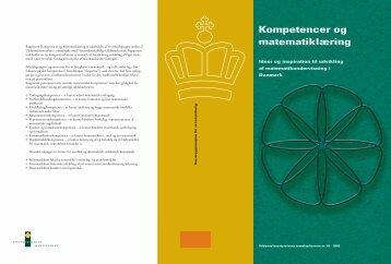 Kompetencer og matematiklæring - Ministeriet for Børn ...