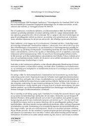Bemærkninger til forslaget - Inatsisartut