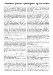 Lejebetingelser for norske og svenske huse - DanCenter