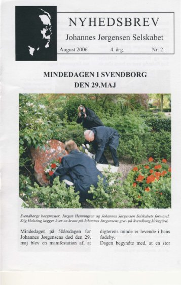 Nr. 2 - August 2006 - Johannes Jørgensen Selskabet