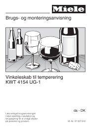 Brugs- og monteringsanvisning Vinkøleskab til ... - Hvidt & Frit