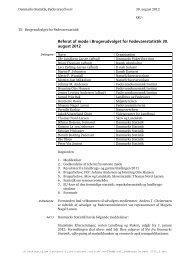 Referat af møde i Brugerudvalget for - Danmarks Statistik