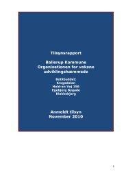 Tilsynsrapport 2010 - Ballerup Kommune