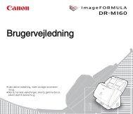 DR-M160 User Manual - Canon Europe