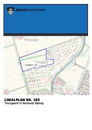 Lokalplan nr. 105, Thorsgaard Nordvest Rødvig - Stevns Kommune