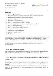 Hovedmøde Pharmadanmark – Hospital 21. april 2013 kl. 9.30-12 ...