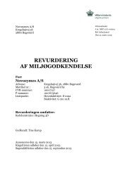 afgørelse om revurdering af Novozymes A/S ... - Miljøstyrelsen