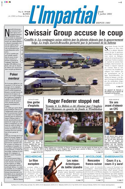 Swissair Group Accuse Le Coup