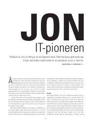 Professor dr. juris Jon Bing er en vennligsinnet ... - anne kari berg