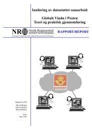 Innføring av datastøttet samarbeid Globalt Vindu i Posten Teori og ...