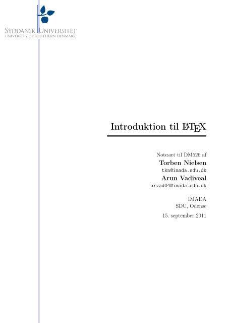 Introduktion til LATEX