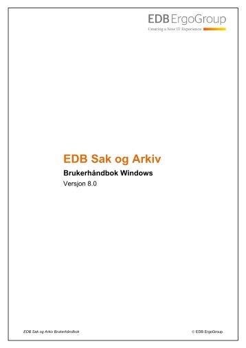 EDB Sak og Arkiv Windows Brukerhåndbok - esa-hjelp for en ...