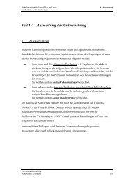 Teil IV Auswertung der Untersuchung