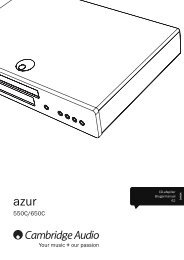 AP238034 Azur 550-650C User's Manual - 07 ... - Cambridge Audio
