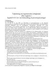 Vejledning om registreredes rettigheder efter reglerne i kapitel 8;10 i ...