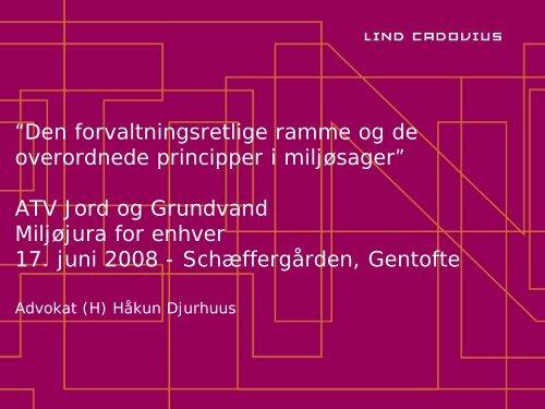 Præsentation på mødet - ATV Jord og Grundvand