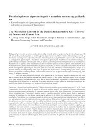 Forvaltningslovens afgørelsesbegreb – teoretiske ... - Juridisk Institut