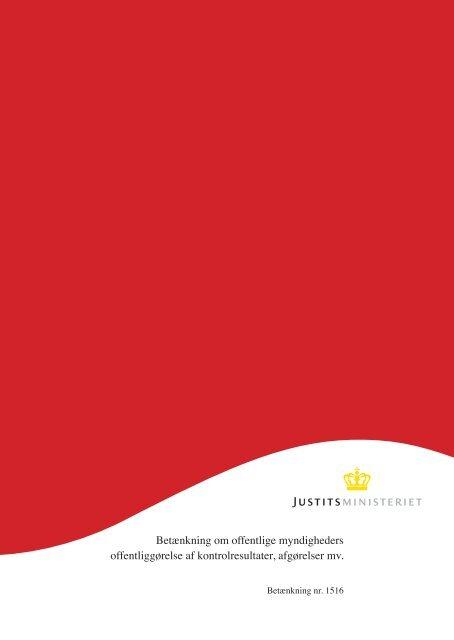 Betænkning om offentlige myndigheders offentliggørelse af ...