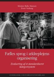 Fælles sprog i ældreplejens organisering - Servicestyrelsen