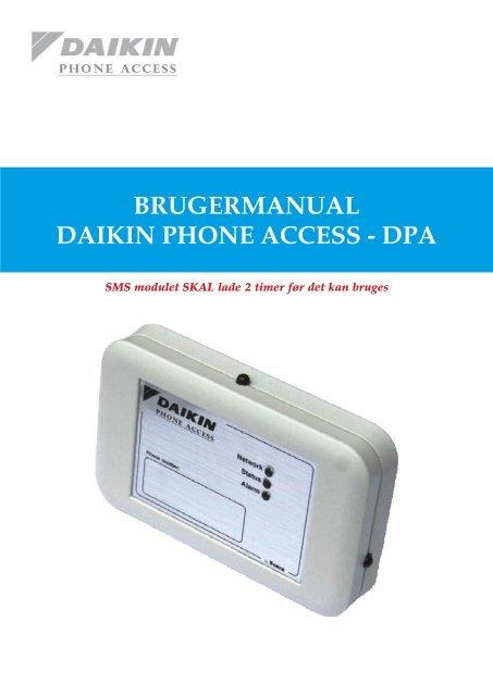SMS Brugermanual - Daikin