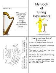 My Book of String Instruments - Rio Hondo Symphony