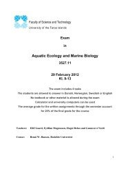 Exam in Aquatic Ecology and Marine Biology 3527.11 29 February ...