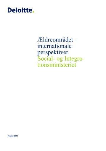 Ældreområdet – internationale perspektiver Social- og Integra ...