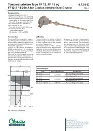 Temperaturfølere type FF 12, FF 15 og FF12-2 / 4 ... - Clorius Controls
