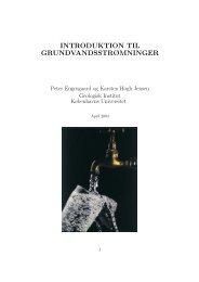 INTRODUKTION TIL GRUNDVANDSSTRØMNINGER