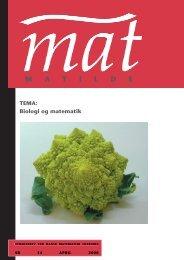 April 2008 - Matilde - Dansk Matematisk Forening