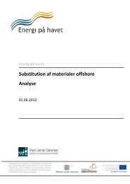 Substitution af materialer offshore Analyse - Energi på havet