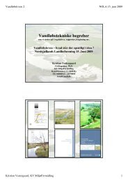 Vandtekniske begreber - Nordsjællands Landboforening