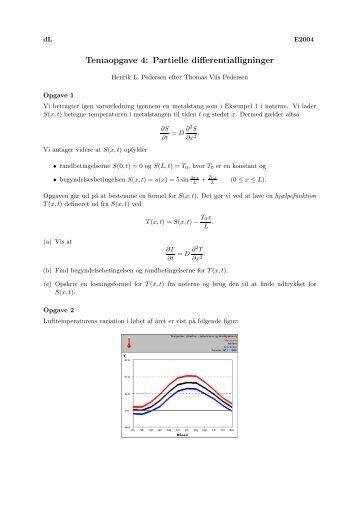 Temaopgave 4: Partielle differentialligninger