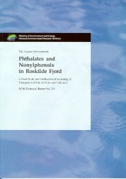 Phthalates and Nonylphenols in Roskilde Fjord