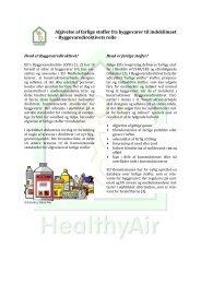 Afgivelse af farlige stoffer fra byggevarer til indeklimaet ...