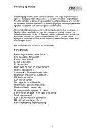Udfordring og dilemma - Prodevo projektmetodik
