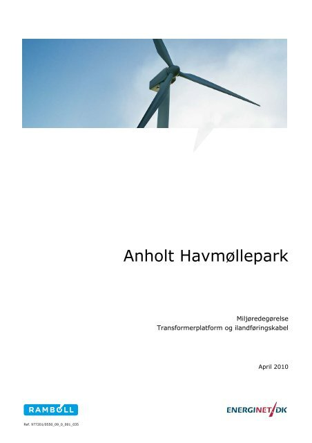 Anholt Havmøllepark - Energinet.dk