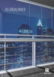 Glasinddækkede altaner - Balco