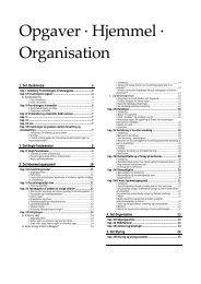 Opgaver · Hjemmel · Organisation - RASMUSSEN / Data