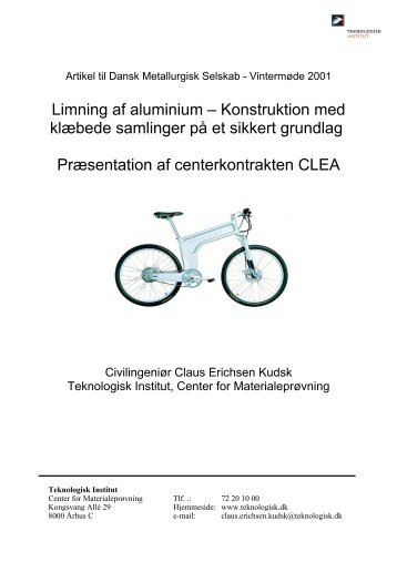 Limning af aluminium - Teknologisk Institut
